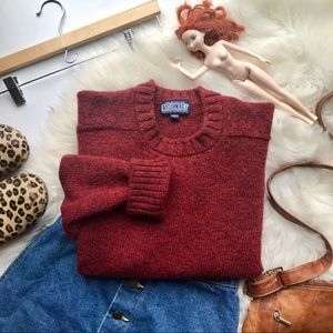 Vintage ❤️ Shetland Wool Sweater ❤️ Size Medium